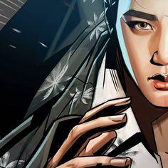 "graphic illustration by Frank Studio from ""The War"" album // #exo #comeback #kokobop #thewar #kai #jongin"