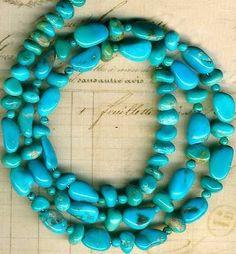 Castle Dome Turquoise Beads Arizona 034 Pinto Valley 034 5 9mm Genuine 16 034 Strd | eBay