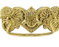ALL QUANTITIES AVAILABLE Solid Brass Ornate Pull