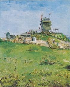 Le Moulin de la Galette - Vincent Van Gogh - 1886 - Paris, France .............#GT