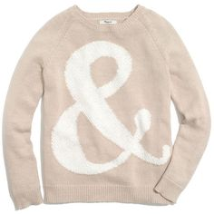 MADEWELL Ampersand Pullover ($88) ❤ liked on Polyvore featuring tops, sweaters, sandy shore, madewell, sweater pullover, pullover tops, pink sweater and pullover sweater