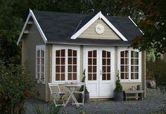 Anneks byggesett - bygge laftet eller halvfabrikat gjestehytte i hagen