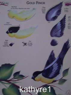 Donna Dewberry RTG GOLD FINCH Worksheet One Stroke NEW