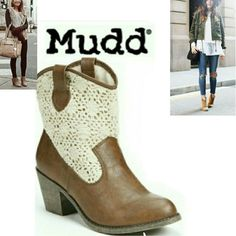 Selling this Brown Western Boots in my Poshmark closet! My username is: patychula1. #shopmycloset #poshmark #fashion #shopping #style #forsale #Mudd #Shoes