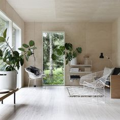 I'm so inspired by the tranquil vibe of the plywood summer house (via Minna Jones)