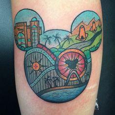California adventure Disney tattoo by @melaniemilnetattoos #disney #disneyland