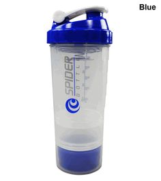 Spider Bottle 2Go Shaker Bottle Clear Cup 16oz -  Multiple Advanced Features l Rock Bottom Fitness
