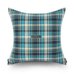 nother Madras Check Pillow (Turkey Blue)