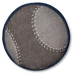 Baseball Throw Pillow - 13 Round - Grey - Pillowfort