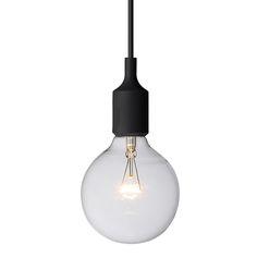 E27 socket lamp, black - Pendants - Lighting - Finnish Design Shop