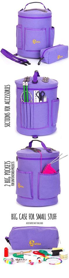 Totes and Cases 83927: Yarn Storage Bag Tote Durable Knitting And Crochet Organizer With Needle Case -> BUY IT NOW ONLY: $34.53 on eBay!