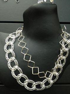 #StatementNecklace #ChainNecklace #Silver