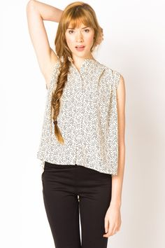 Tear Drop Print Blouse