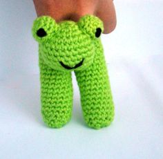 Two Finger Frog Puppet by PureCraft on Etsy, £6.00