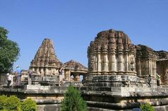 """At Nagda in Rajasthan are the remains of the SahastraBahu temples of the early 10th century AD, dedicated to Vishnu. It is popularly referred to as Sas Bahu temples (a local corruption of the original Sahastra-Bahu, meaning """"One with thousand arms"""", a form of Vishnu). The temple is on the Archaeological Survey of India's list of heritage monuments."""