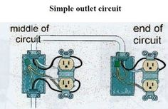 split plug wiring diagram diagram electrical wiring and paint stain rh pinterest com Wiring Kitchen Outlets outlet wiring and circuit