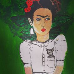 Frida still in the work process, advised to give a go by my sweet Anne Bee x love you !