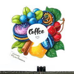 Illustration for coffee tumbler ☕️ Ещё один скетч из тех, что я сделала для @masterpandaskh. И мне он нравится больше всех :) Могут же у иллюстратора быть любимчики? И надпись на стаканчике такая хорошая!