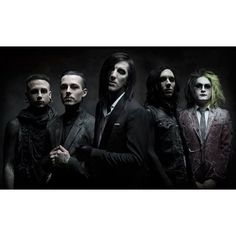 "Motionless In White release new song, ""Reincarnate"" Alternative Press ❤ liked on Polyvore featuring motionless in white, miw and band"