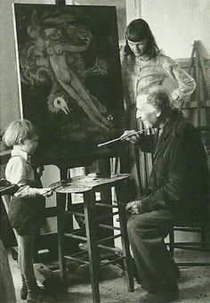Marc Chagall with family.