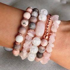 Gemstone Bracelets, Handmade Bracelets, Gemstone Jewelry, Beaded Jewelry, Bracelet Crafts, Jewelry Crafts, Jewelry Accessories, Jewelry Design, Diffuser Jewelry
