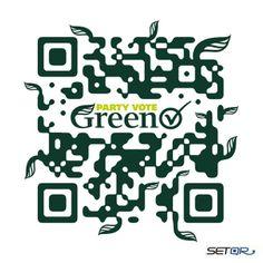 Green Party (New Zealand) Custom QR Code by SETQR http://www.setqr.com/
