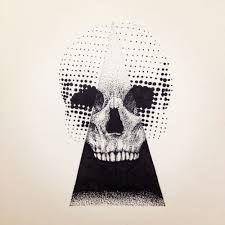 Billedresultat for dotwork skull