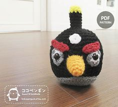 The Black Bird from Angry Birds - Free Amigurumi Crochet Pattern