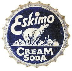 Vintage soda-bottle cap, Eskimo Cream Soda, Gail Anderson