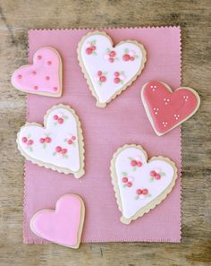 Jenny Steffens Hobick: Valentine's Day Sugar Cookies | Heart Cookies for Emma's Baptism