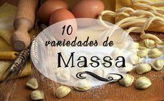 10 variedades de massa alimentícia