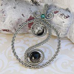 Yin Yang Jewelry, Wire Wrapped Yoga Jewelry, Yin Yang Pendant