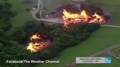 Lightning struck Jim Beam factory leak causes 'firenado'