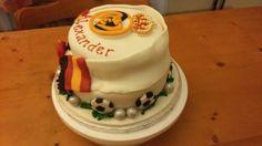 Real Madrid cake Real Madrid Cake, Cakes, Desserts, Food, Tailgate Desserts, Meal, Cake, Dessert, Eten