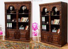 Wohnzimmerschrank antik ~ Antik look orient massivholz wohnzimmerschrank regal schrank