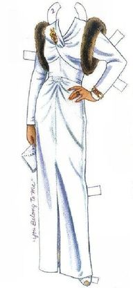 Barbara Stanwyck paper doll dress / googlesearch.com * 1500 free paper dolls at Arielle Gabriel's The International Paper Doll Society for paper doll pals at Pinterest, thanks to all of you..! *