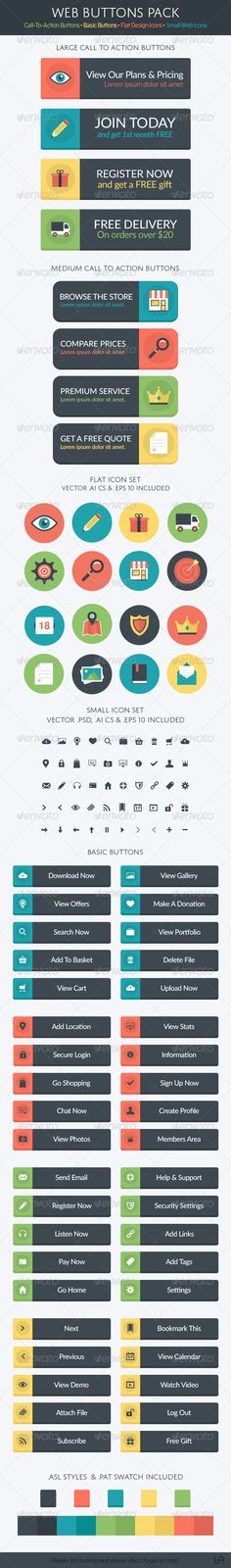 Web Button Pack - Buttons Web Elements