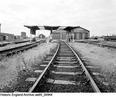 Fuel point from the east, Whitemoor Rail Marshalling Yard, March, Cambridgeshire Date 20 SEP 1995 Photographer: Alun Bull British Rail, Historical Images, Horse Drawn, St Ives, Peterborough, Railroad Tracks, Past, March, England