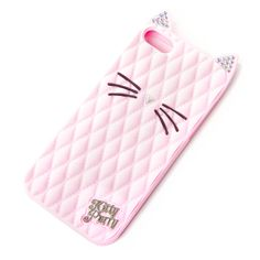 Katy Perry Kitty Purry Pink Quilted Silicone Cover for iPhone and Kawaii Phone Case, Girly Phone Cases, Iphone 5 Cases, 5s Cases, Phone Covers, Claires Phone Cases, Iphone 4, Katy Perry, Claire's Accessories