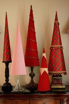 Fabric Covered Poster Board Tree Cones {Part 2}... - The Creativity ExchangeThe Creativity Exchange