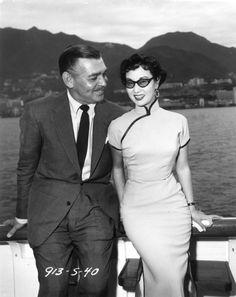 Clark Gable and Li Li-hwa, 1954.
