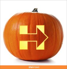 Hillary Clinton pumpkin-carving template, I'm with Her logo . | More at @Sheknows