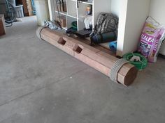 homemade strongman log