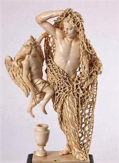 "stonemen: ""Andrea Pozzi. (Atrib.). El Desengaño. Ivory. Patrimonio Nacional. Madrid """