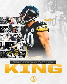 TJ Watt breaks James Harrison's forced fumble record with TJ Watt's forced fumble Sunday he finishes the season with Pitsburgh Steelers, Pittsburgh Steelers Football, Football Team, James Harrison, Nfl Championships, Steeler Nation, National Football League, Texans, American Football