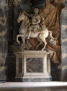 Le bienheureux Charlemagne, roi de france, empereur d'Occident, façade de la basilique Saint-Pierre de Rome (XVIIIe)