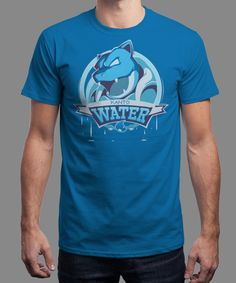 """Team Water"" is today's £8/€10/$12 tee for 24 hours only on www.Qwertee.com Pin this for a chance to win a FREE TEE this weekend. Follow us on pinterest.com/qwertee for a second! Thanks:)"