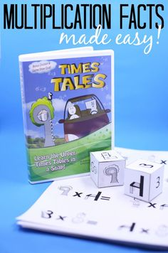 This amazing supplemental resource helps children learn their multiplication facts easily!  Great for kiddos who are struggling with traditional methods of memorizing times tables! (sponsored)