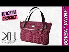 "Tutorial borsa ""Birkin"" uncinetto   How to make a crochet bag    Katy Handmade - YouTube"
