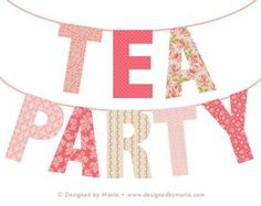 This is a PRINTABLE banner spells TEA PARTY. The adorable shabby chic design is versatile for a bridal shower, baby shower, birthday, or ladies tea party decoration. Just print, cut, & hang. • • • • • FILE INFO: • See 2nd listing photo for reference • PDF & JPEG formats • Set up on eight 8 1/2 x 11 documents • Each letter is about 6 x 9 1/2 inches +/- • • • • • AFTER ORDERING: Printable files will be available to download instantly through Etsy. This explains how it w...